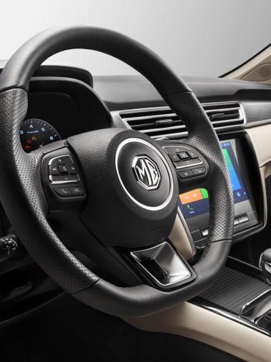 MG5 Beige Interior Leather Steering Wheel