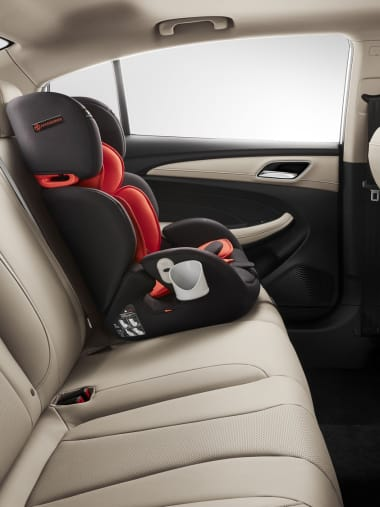 MG5 Beige Interior Rear Seats with Child Lock