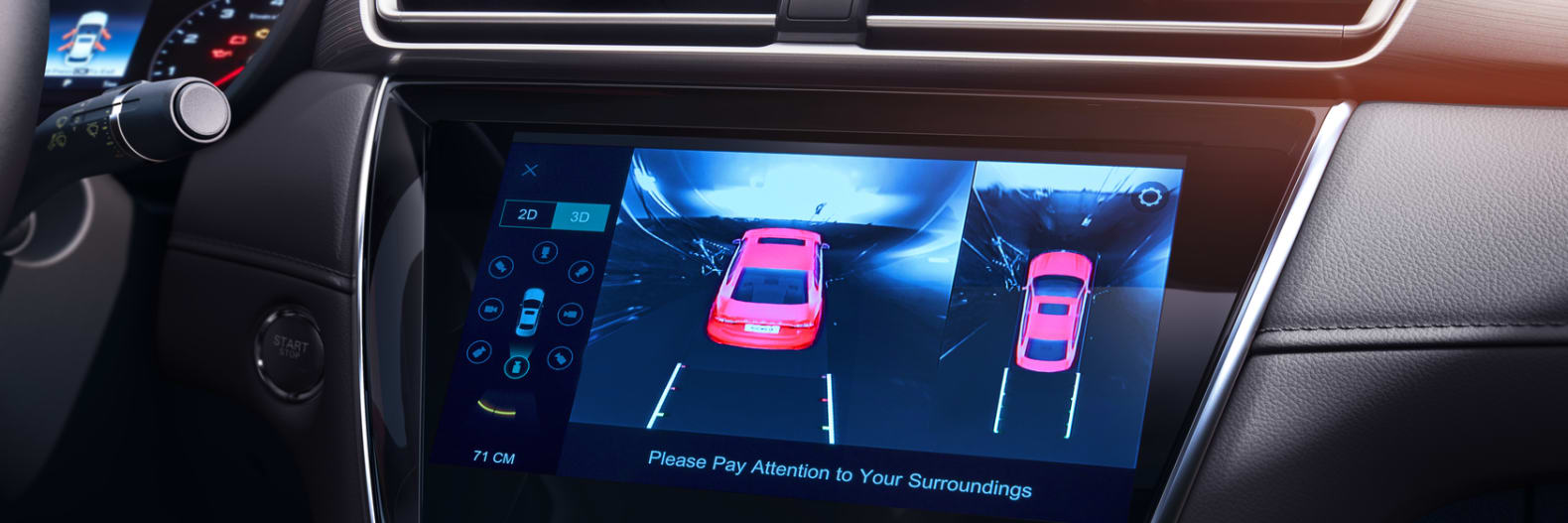 MG5 Black Interior Rear Camera with Guide line