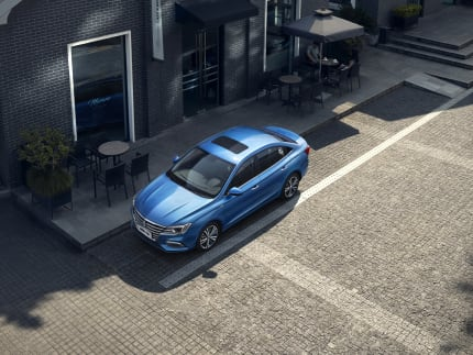 MG5 Blue Front Roof Beauty