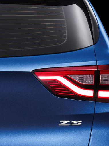 MG ZS Blue Taillight