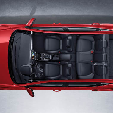 MG ZS Top View