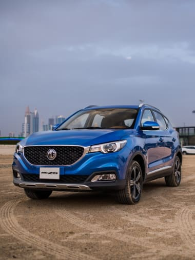 MG ZS Blue Front View